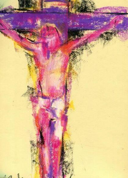 Cristo en la cruz, de Miguel Elías.