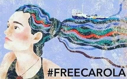 En redes sociales se viralizan varias imágenes de apoyo a Carola.