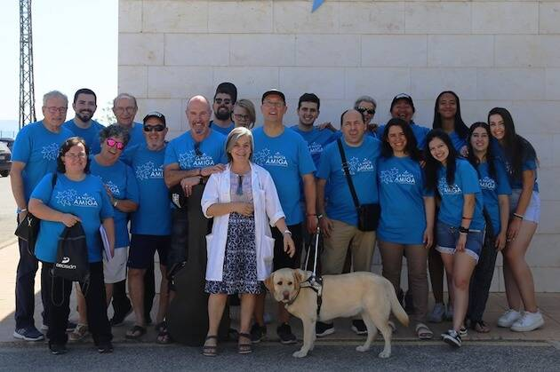 Algunos de los participantes en las jornadas, en la residencia de mayores La Savia, de la localidad alicantina de La Núcia. / Decisión,