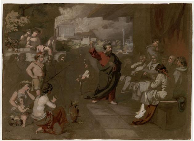 San Pablo predicando ante el Areópago, cuadro del reusense Marià Fortuny. / MNAC,