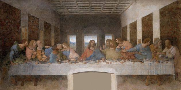 Imagen de la obra La última cena, de Leonardo Da Vinci. / Wikimedia Commons,