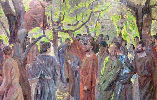 Cristo y Zaqueo, un cuadro de Niels Larsen Stevns. / Wikimedia Commons,