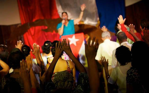 Imagen de un culto de la Liga Evangélica de Cuba. / Fb Liga Evangélica de Cuba,