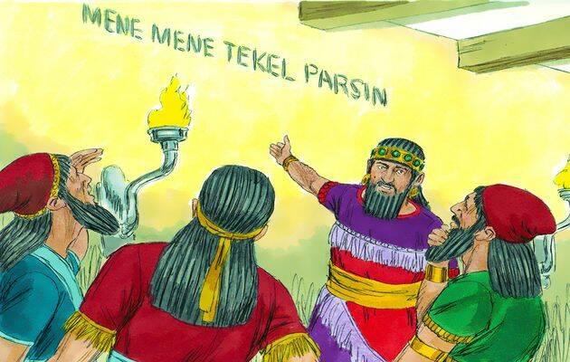 Las palabras Mene, Tekel U Pharsin  tienen una correspondencia en monedas. / Free Bible images,