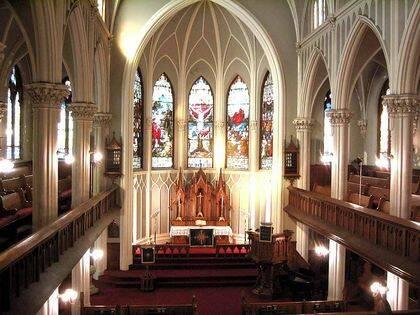 A nivel estético, las catedrales luteranas son más sofisticadas que los templos reformados. Esta imagen es de la Iglesia Luterana de San Pablo en Nueva York. / Nycago.org
