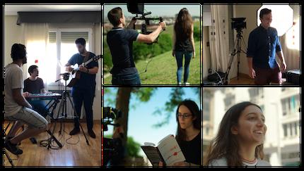 Algunas imágenes de la grabación del corto. / JesusOnTheWeb
