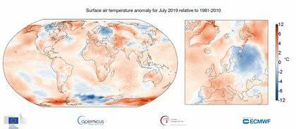 La temperatura del aire ha aumentado en las últimas décadas. / Copernico
