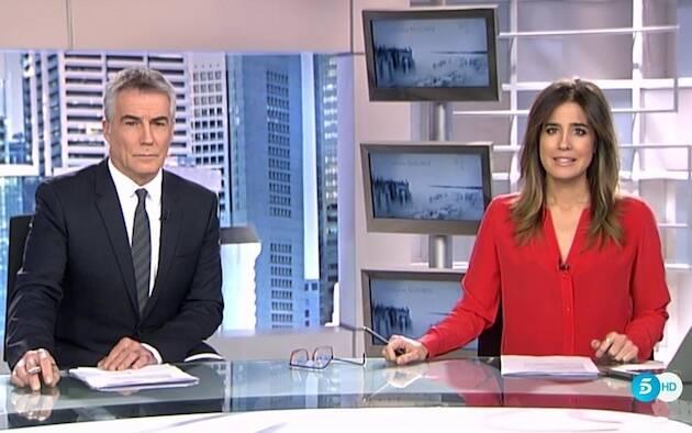 Presentadores de los Informativos Telecinco. / Telecinco,