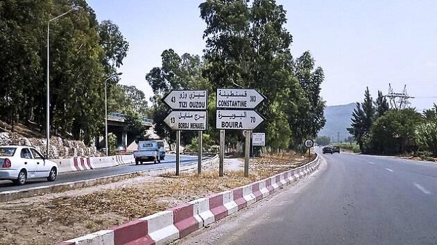 Carretera en Argelia.,