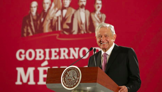 El presidente de México, Andrés Manuel López Obrador, durante una presentación de la Cartilla Moral. / Gobierno de México,
