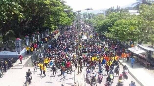 Una manifestación este agosto en Jayapura. / ULMWP,