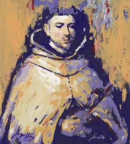 Retrato de San Juan de la Cruz, de Miguel Elías 146x114cm Tecnica Mixta (1600x1200)