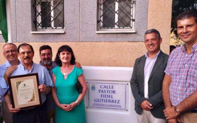 Fidel Gutiérrez ha sido homenajeado con el nombre de una calle en Rota. / FADE,