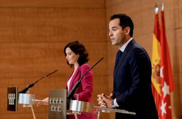 Aguado y Díaz Ayuso, este martes. / Comunidad Madrid,
