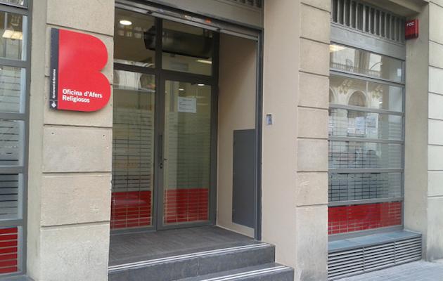 Fachada de la Oficina de Asuntos Religiosos de Barcelona. / OAR,