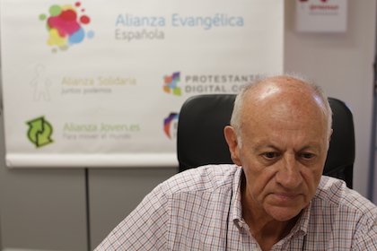 Según Crespo, uno de los principales retos actuales del voluntariado sería el amor al prójimo. / J. Soriano