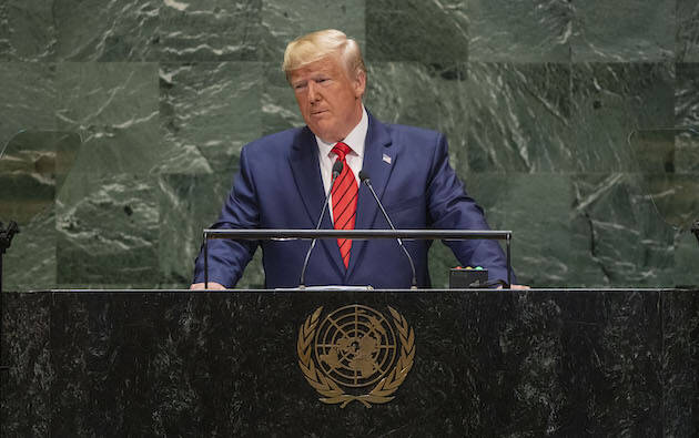 Donald Trump, durante la Asamblea general de la ONU este 23 de septiembre de 2019. / UN Photo, Cia Pak,
