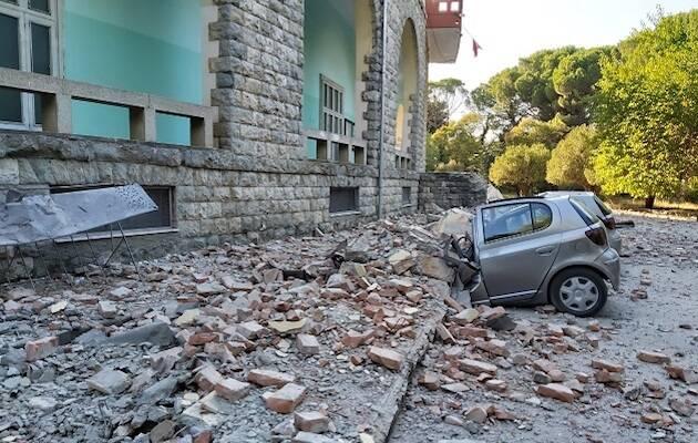 El terremoto ha dañado edificios públicos, como la Facultad de Geología de la Universidad de Tirana. / Departamento de Geología de la Universidad de Tirana,