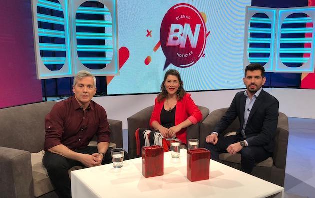 Los presentadores del programa Buenas Noticias, en emisión en Argentina desde septiembre de 2019. / Aciera,