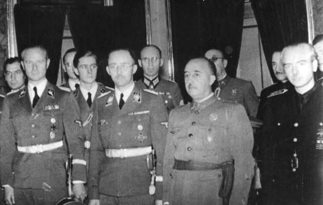 El general Franco junto al dirigente nazi Heinrich Himmler, durante su visita a Madrid, en 1940. / Wikipedia, dominio público,