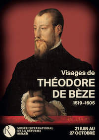 Cartel de la conmemoración del 500 aniversario de Teodoro de Beza.