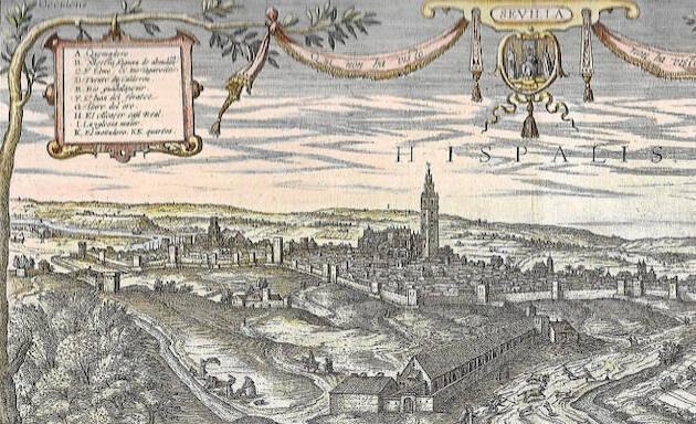 Sevilla en el siglo XVI. / Grabado Jonis Hoefnagel,