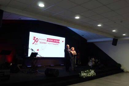 Uno de los momentos durante el acto de celebración del 30 aniversario. / IBN Lugo