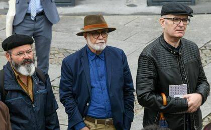 Carlos d'Abreu, David Cortés Cabán y Martín Cobano.  (Foto Beira BaixaTV)