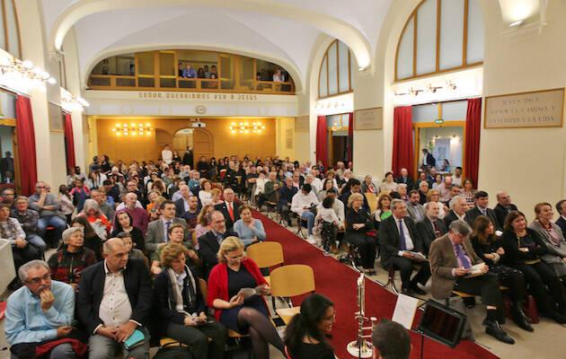 El templo de la Iglesia Evangélica de Trafalgar ha acogido el acto. / Mariano Gala,