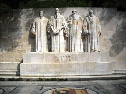Monumento de la Reforma, en Ginebra. / Foto: Wikipedia, CC