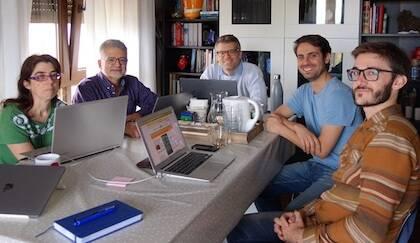 El equipo de Evangelical Focus y de Protestante Digital durante un encuentro este septiembre. / Marina Acuña