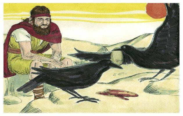 Y sucederá que beberás del arroyo, y yo he mandado a los cuervos que te sustenten allí.. / Free Bible Images (CC),