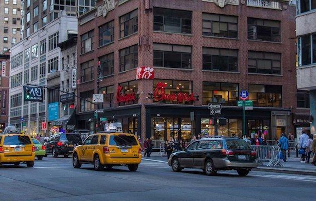 Uno de los 2.300 establecimientos que la compañía gestiona en Estados Unidos. / Twitter @ChickfilA,