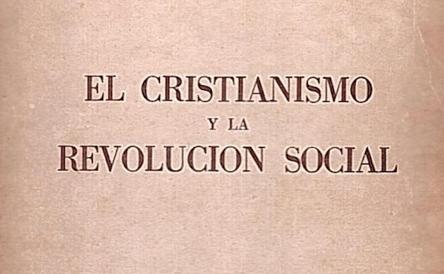 Detalle de la portada de El cristianismo y la revolución social, de Richard Shuall.,