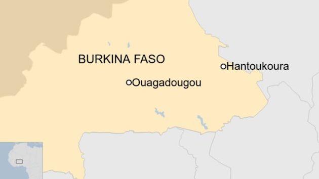 Una iglesia protestante en el pequeño pueblo de Hantoukoura ha sido objeto de un ataque que ha provocado 14 muertos. / Twitter,