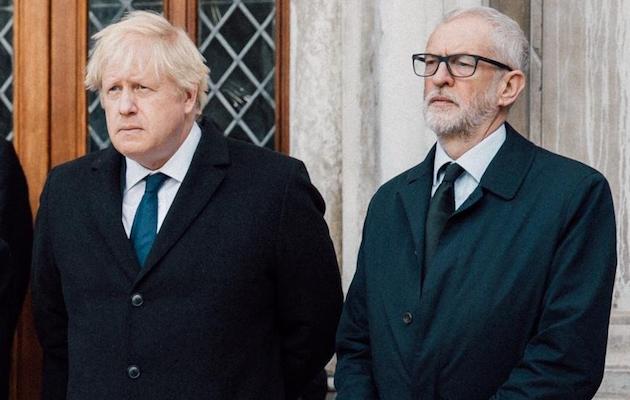 Boris Johnson y Jeremy Corbyn han sido objeto de la crispación de diferentes líderes religiosos durante esta campaña electoral en el Reino Unido. / Twitter @jeremycorbyn,