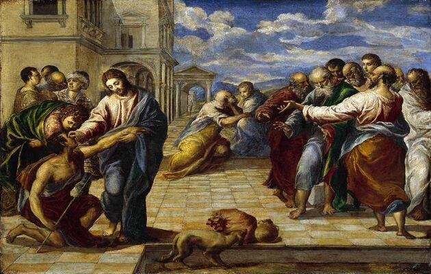 La curacion del ciego, El Greco. / Wikipedia.,
