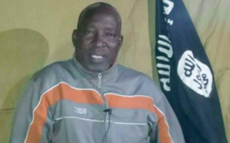 Una imagen del pastor Lawal en el vídeo difundido por Boko Haram.,