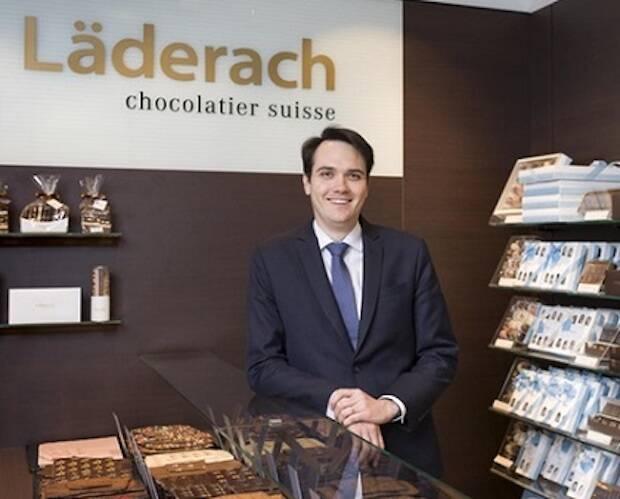 Johannes Läderach, CEO de Läderach, en una de las tiendas. / Swissinfo