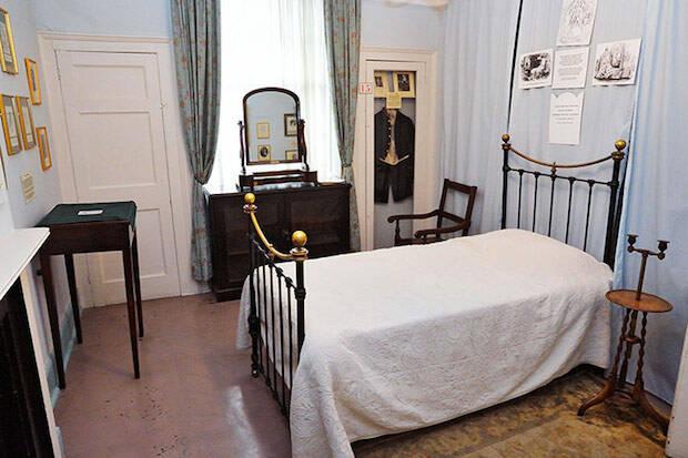 El dormitorio de Mary, cuya muerte angustióal escritor.