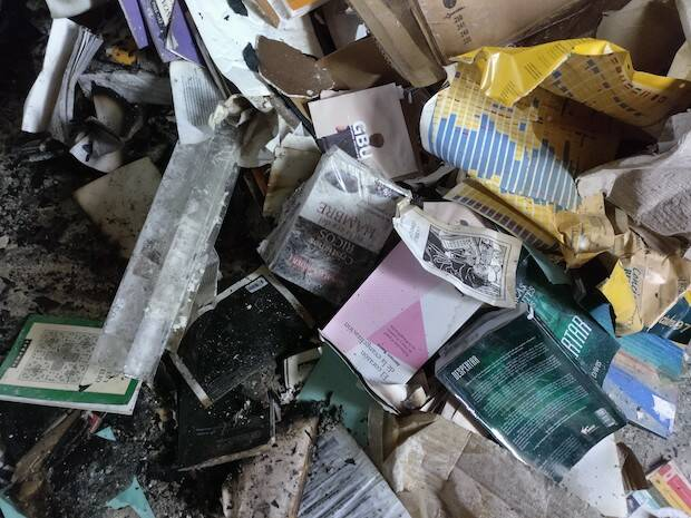 Se perdieron muchos libros y materiales. / GBU