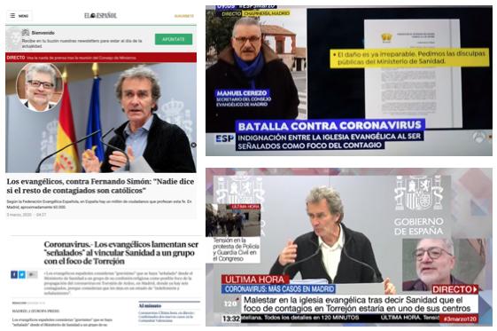 Fernando Simón se disculpa con la comunidad evangélica