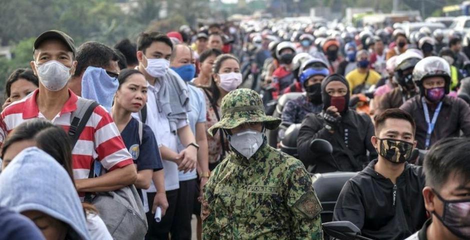 Filipinas es uno de los países del Sudeste asiático que ha impuesto unas restricciones más duras por el centro de la epidemia. / Twitter @Cronistacom,