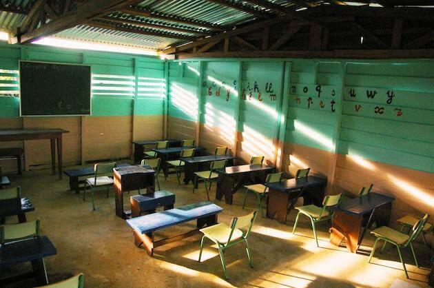 Una de las escuelas que apoya la UEBE en Guinea Ecuatorial.  Autor: UEBE