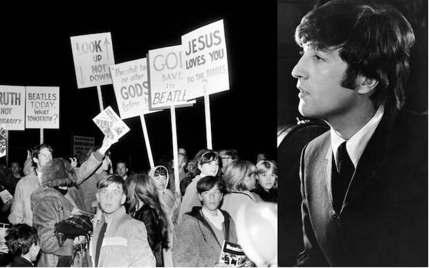 Cuando Lennon dijo en 1966 que los Beatles eran más populares que Jesús, hizo que muchos cristianos en Estados Unidos quemaran sus discos.