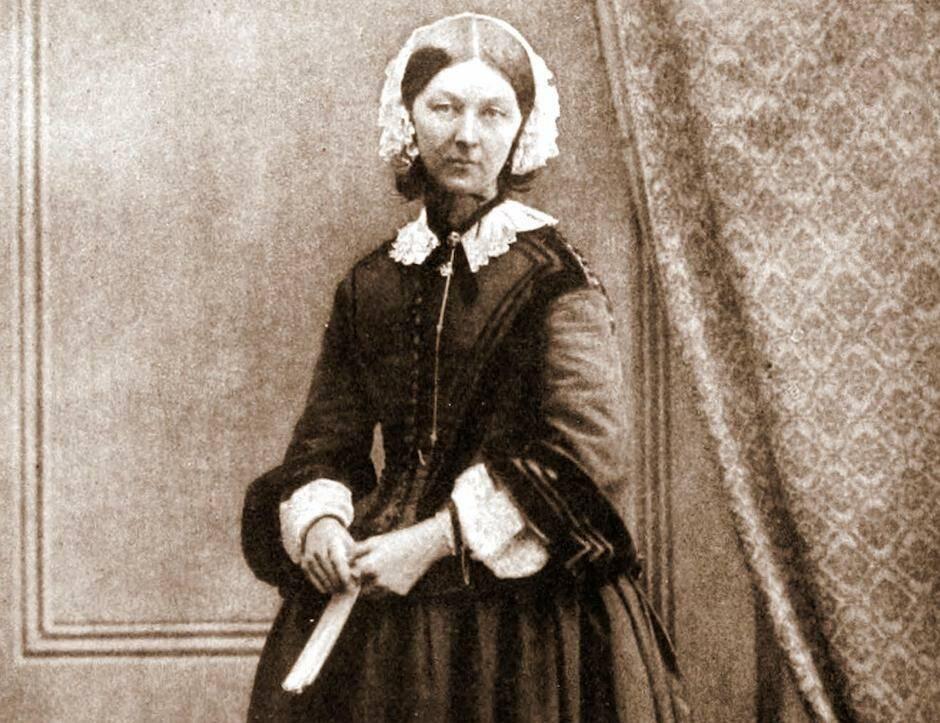 Florence Nightingtale, en 1858. / Goodman, Wikipedia ,