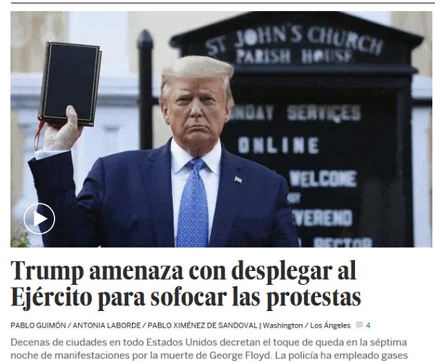 La foto de Trump y la Biblia