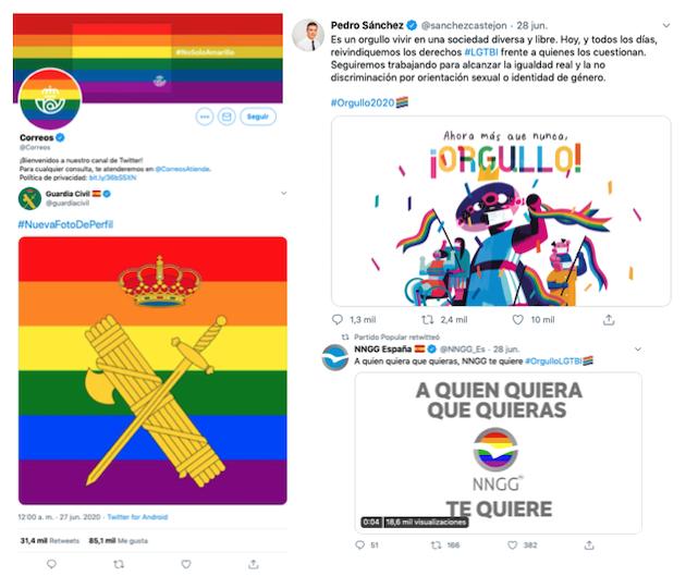 El uso de banderas LGTBI en espacios institucionales genera debate en España