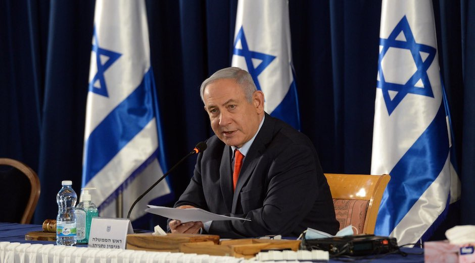 El primer ministro israelí, Benjamin Netanyahu, durante una comparecencia. / Twitter @netanyahu,
