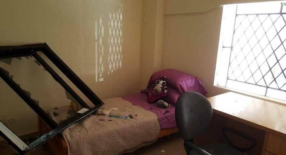 Interior de una vivienda afectada por la explosión. / Alianza Solidaria,